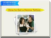 How to Get a Henna Tattoo