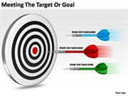 MEETING THE TARGET OR GOAL BUSINESS CONCEPT
