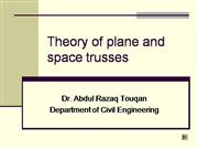 plane and space trusses