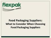 Flexpak - Food Packaging Suppliers