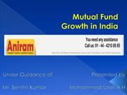 GROWTH IN MUTUAL FUND IN INDIA