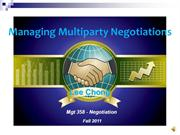 Negotiation Final_Managing Multiparty Negotiation_Chong