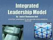 Janice Integrated leadership model pp