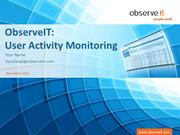 ObserveIt  - User Activity Monitoring Software