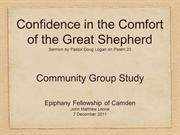 Epiphany Camden - Confidence in the Comfort of the Great Shepherd