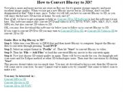 How to Convert Blu-ray to 3D