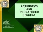antibiotics and terapeutic spectra