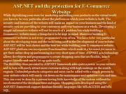 ASP.NET and the protection for E-Commerce Websites