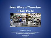 New Wave of Terror In Asia Pacific