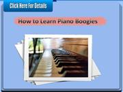 How to Learn Piano Boogies