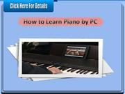 How to Learn Piano by PC