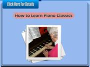 How to Learn Piano Classics