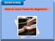 How to Learn Piano for Beginners