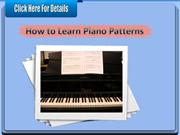 How to Learn Piano Patterns
