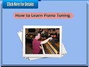 How to Learn Piano Tuning