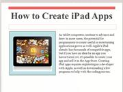 How to Create iPad Apps