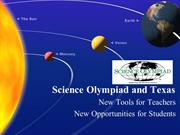 Texas Science Olympiad Presentation
