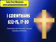 2nd Sunday - Second Reading: First Corinthians 6:13-15, 17-20