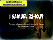 2nd Sunday - First Reading: First Samuel 3:3-10, 19