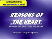2nd Sunday - Gospel Illustration: John 1:35 Reasons of the Heart