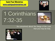 4th Sunday - Second Reading: First Corinthians 7:32-35 –