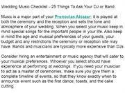 Wedding Music Checklist - 25 Things To Ask Your DJ or Band