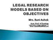 legal research models based on objectives
