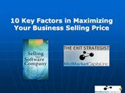 Sell Your Business -Maximize Sale Price