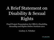 Disability and Sexual Rights 101