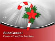 CHRISTIAN CANDY CANE FOR CHRISTMAS CELEBRATION PPT TEMPLATE