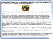RV AppStudios Announces The Releases Of Extreme Car Parking