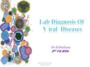Laboratory diagnosis of viral diseases