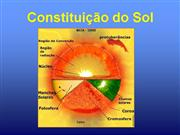 PowerPoint alusivo à estrutura do sol