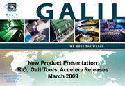 Galil New Product Presentation March 2009