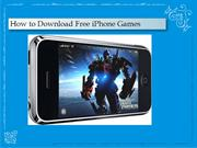 How to Download Free iPhone Games