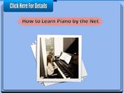 How to Learn Piano by the Net
