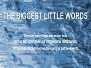 The Biggest Little Words