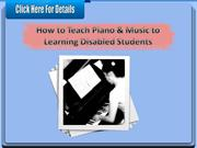 How to Teach Piano & Music to Learning Disabled Students