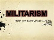 Militarism (minus video embeds  for Authorstream upload)
