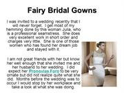 Fairy Bridal Gowns