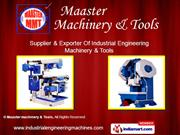 Maaster machinery And Tools Tamil Nadu India