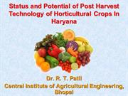 Status and Potential of Post Harvest Technology of Horticultural Crops