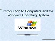 Windows Operating System introduction