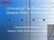 Nippon Pulse America-  Unraveling the Mystery of Stepper Motor Technol