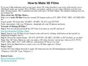 How to Make 3D Films