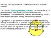Wedding Planning- Essential Tips For Working With Wedding Vendors