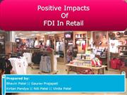 FDI in retail (Positive Impacts)