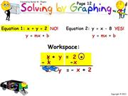 PA  U5-2  Solving by Graphing