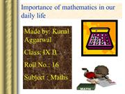 Maths ppt