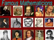 Presentation of Math (Mathematicians)